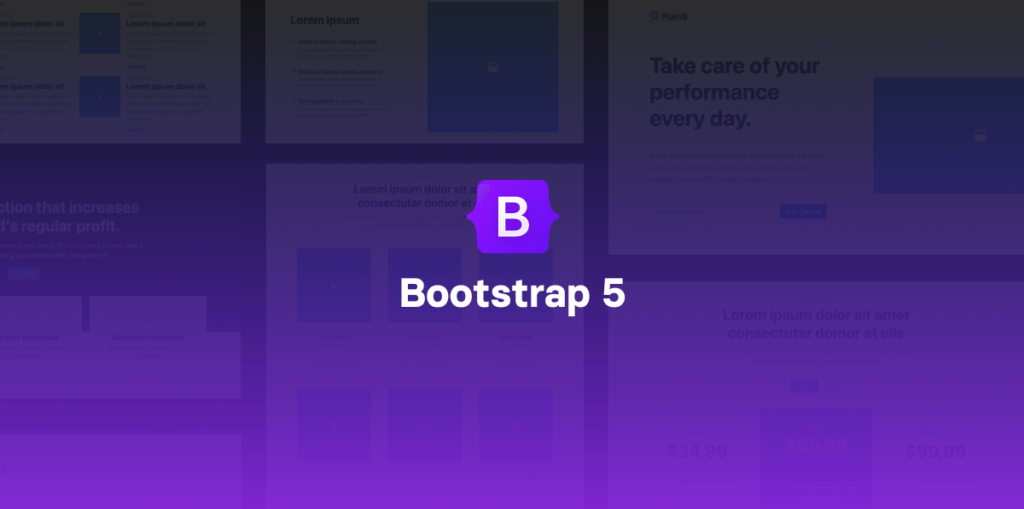 Bootstrap 5 with components library